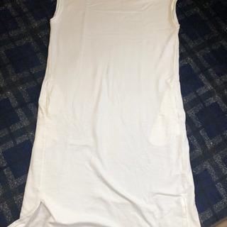 ロングTシャツ 白