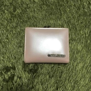 未使用 ワンウェイ 二つ折り財布 ピンク