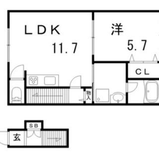 敷金礼金なし♫新築1LDK♫ネット、BS、スカパー無料♫駅までもスグ♫