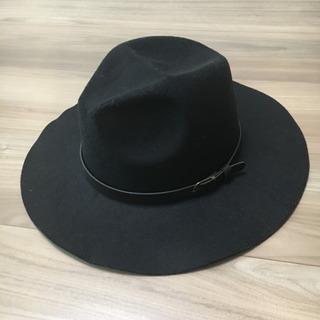 ハット 帽子 黒 レディース