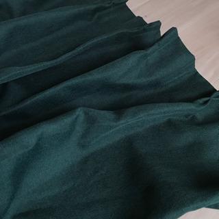 ニトリ カーテン 緑色 100cm×200cm×2枚