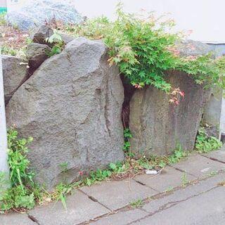 庭石、土、石、無料で譲ります