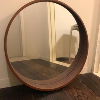 ニトリ ウォールミラー 曲げ木 円型 アルブル
