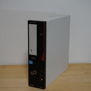 【富士通】スリムデスクトップ Win10/i3/4GB/DVD