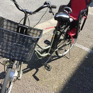 難あり 電動自転車 チャイルドシート付き
