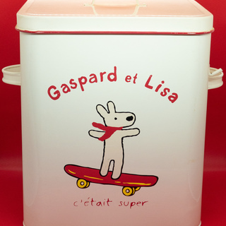 【Gaspard et Lisa】リサとガスパールのブリキ缶
