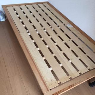 組み立て式木製シングルベッド