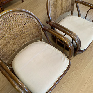 長椅子1  1人用3の4点セット   と藤の回転する座椅子2
