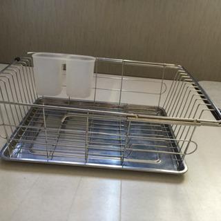 食器洗い籠    サイズ38センチ最大48センチ×29センチ