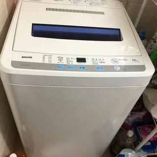 【無料】SANYO  洗濯機  6kg