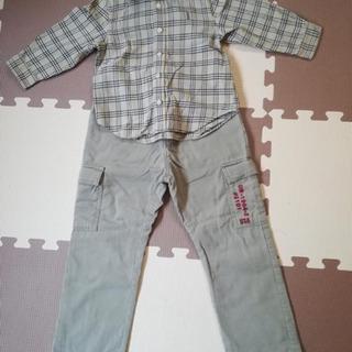 キッズ ワイシャツ ティシャツ スボン 90-100cmセ…