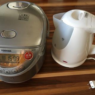 TOSHIBA3.5合炊き炊飯器 + KOM電気ケトル【セット】