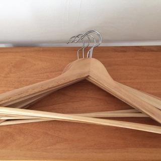 木製ハンガー8本セット