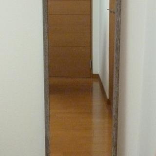 姿見(全身)鏡 ウォールミラー 幅34cm×高さ125cm...