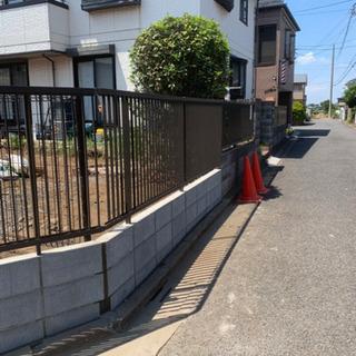 ブロック塀新設&フェンス設置工事致します。エクステリア店 所沢市