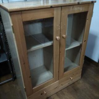 ★木製キャビネット★チェスト収納食器棚★差し上げます