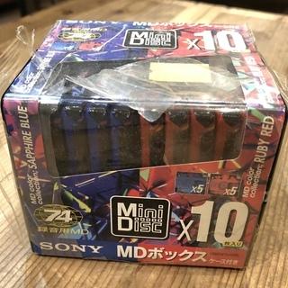未使用 ソニー MD ディスク 74分10枚組 1箱