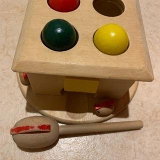 ハンマートイ たたいてコロン 木のおもちゃ 知育玩具