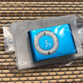 microSDHC 32GB対応クリップMP3プレイヤー(青)