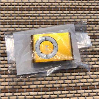 microSDHC 32GB対応クリップMP3プレイヤー(金)