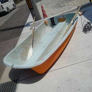 フィッシングボート 魚群探知機&オール付