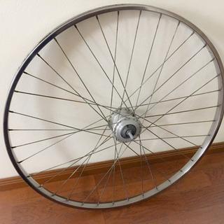27インチ自転車ステンレスフロントホイール(ジャンク)