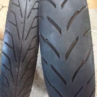 中古タイヤセット 90‐80‐17・130‐70‐17タイヤ