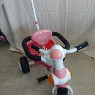 値下げしました! 三輪車 押し棒でハンドル操作できます。