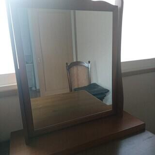 【値下げ】鏡ドレッサー 木製 状態良し