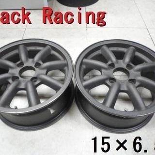 ブラックレーシング★15×6.5J PCD114.3 稀少+40...