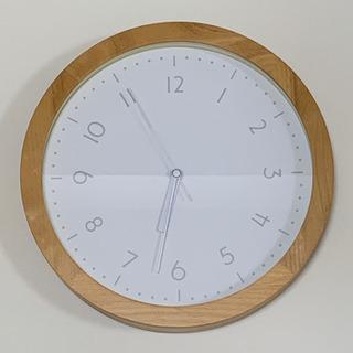 【値下げしました】掛け時計 アナログ 木目調フレーム