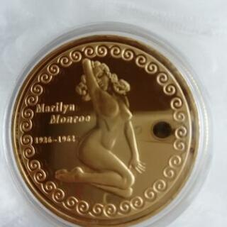 ◆◆◆マリリン・モンローカラー記念金貨メダル★エナメル加工 24...