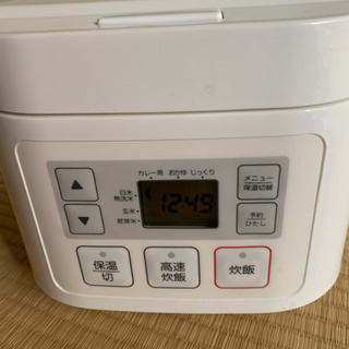 ニトリ マイコン炊飯ジャー3合炊き2500→2000円