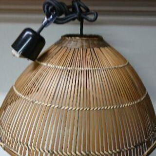 竹製シェードの照明💡2灯式★吊り下げタイプ
