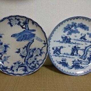 アンティーク和食器大皿 二枚
