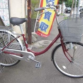 札幌 24インチ 自転車 ママチャリ シティサイクル 鍵付き エ...