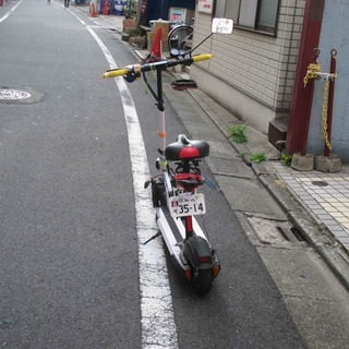 中国製電動バイク 公道も一応走行しています