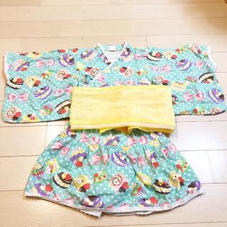美品 スイーツ柄 浴衣ドレス