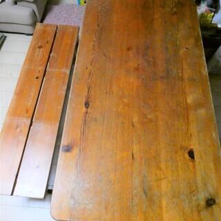 ダイニングテーブル+ベンチ【パイン材】