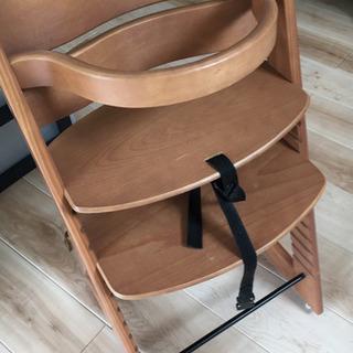 木製ベビーチェア 赤ちゃん用木製椅子 安全ベルト付