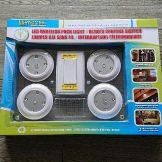 便利!LED ワイヤレス パックライト 4灯 リモコン付き…