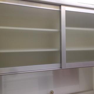 【値下げしました】パモウナ 2面食器棚 ブランド家具! 0813-03