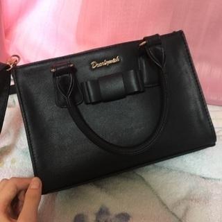 黒 ショルダーバック ハンドバッグ ¥500