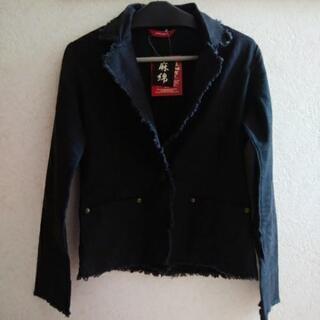 麻綿ジャケット 黒