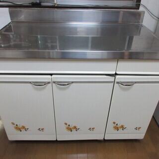 さしあげます キッチンカウンターステンレス製 収納&作業台