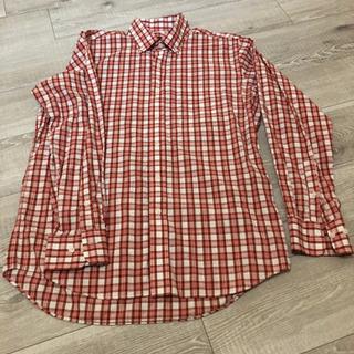 【新品未使用】シャツ 赤 ピンク チェック柄