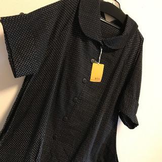変形 オーバーサイズ tシャツ 半袖 ドット 黒 11号 l 春...