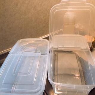 *お取引中*【お値下げ(^-^)】フタ付米びつ2箱 カップ付