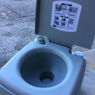 ポータブル水洗トイレ 未使用!