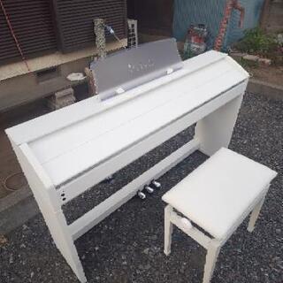 電子ピアノホワイトCASIOの画像